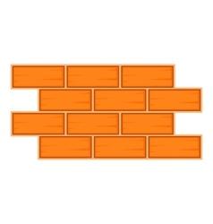 Brick wall icon cartoon style vector image vector image