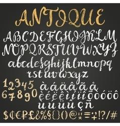 Chalk script latin alphabet vector image vector image