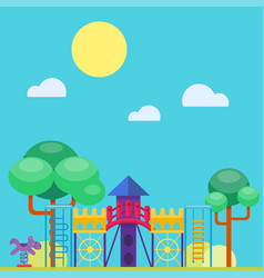 children playground fun childhood play park vector image