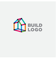 construction logo real estate emblem vector image