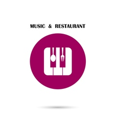 Creative music and restaurant icon vector
