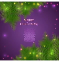 Festive Christmas card with branches vector image vector image