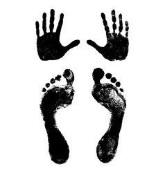 Footprints and handprints vector