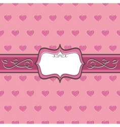 heart pattern and banner vector image vector image