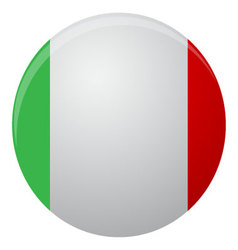 Italy flag icon flat vector