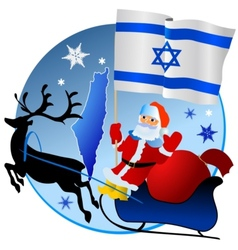 Merry Christmas Israel vector image vector image