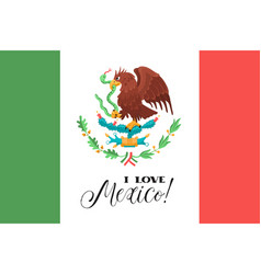mexican national flag vector image