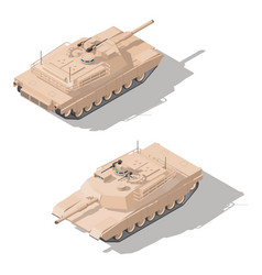 Modern main battle tank with dynamic defense vector