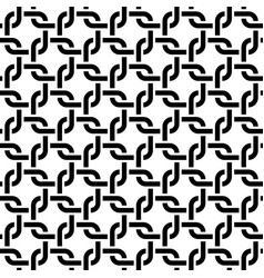 monochrome rounded weave squares seamless pattern vector image