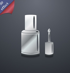 Nail polish bottle icon symbol 3d style trendy vector