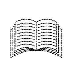 open book icon education knowledge learning vector image