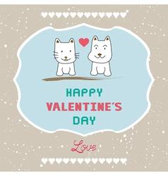 Romantic card41 vector image vector image