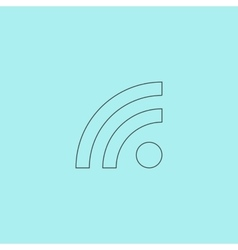 RSS sign icon feed symbol vector image vector image