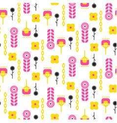 scandinavian folk floral art pattern seamless vector image