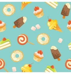 Seamless cute candies pattern vector image vector image