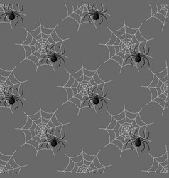 seamless pattern with spider web on halloween vector image