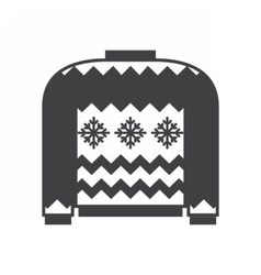 Woolen winter sweater vector
