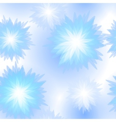 Winter seamless floral pattern vector image