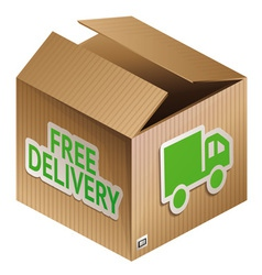 box with free shipping icon vector image