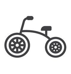 Tricycle line icon bike and toy vector