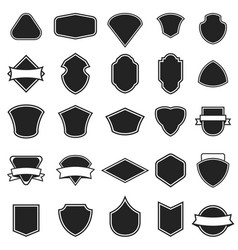 Set of the empty emblems isolated on white vector
