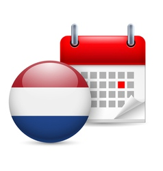 Icon of national day in netherlands vector