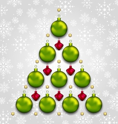 Abstract tree made of christmas taditional vector