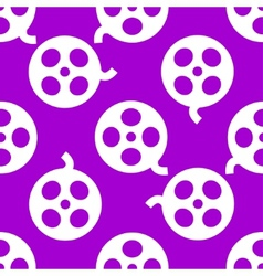 Film web icon flat design seamless pattern vector