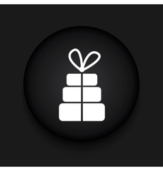 Modern gift black circle icon vector