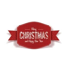 Realistic christmas and new year red card vector