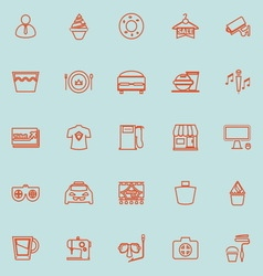Franchisee business line orange color icons vector