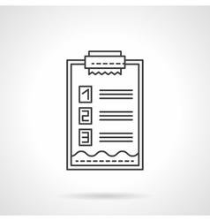 Check list icon flat line design icon vector image