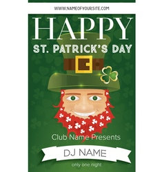 Poster for happy st patricks day party vector