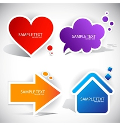 paper bubble icons vector image