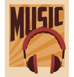 Retro music poster design vector
