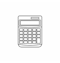 Calculator icon in outline style vector