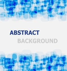 Abstract blue rounded rectangle overlapping vector image