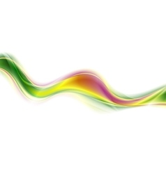 Abstract blurred colorful wave on white background vector image