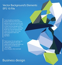 Abstract colored elements vector image vector image