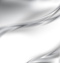 Abstract metal silver border background template vector