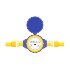 Analog water meter icon in flat style sanitary vector