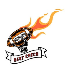 Best Catch Badge Hand Draw vector image vector image