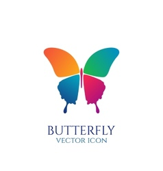 Butterfly conceptual icon Logo vector image vector image