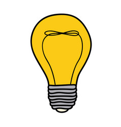 color background of light bulb with filament in vector image