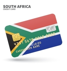 Credit card with south africa flag background for vector