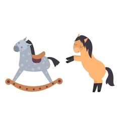 Different horses breed set vector image vector image