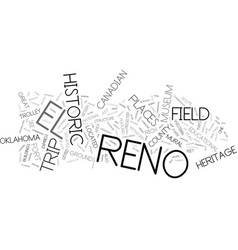 El reno field trip text background word cloud vector