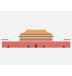 Forbidden city gate of heavenly peace tiananmen vector