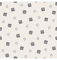 Geometric hand drawn seamless pattern with squares vector