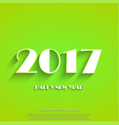 happy new year 2017 background calendar vector image vector image
